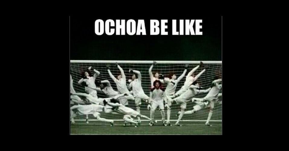 Como o Ochoa faz para defender tanto