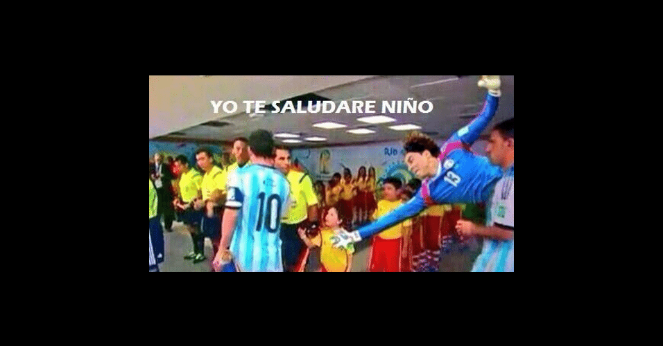 Criança supostamente ignorada por Messi é 'salva' por Ochoa