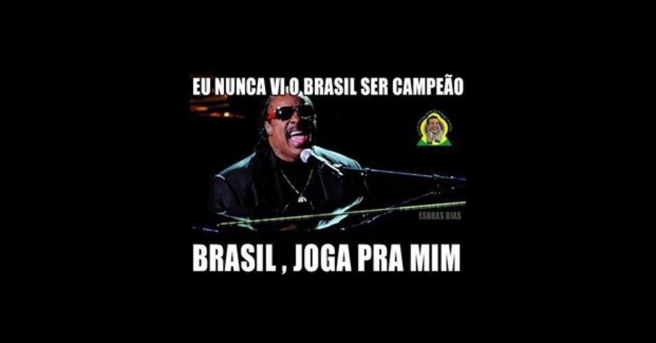 Ele quer ver o Brasil campeão da Copa
