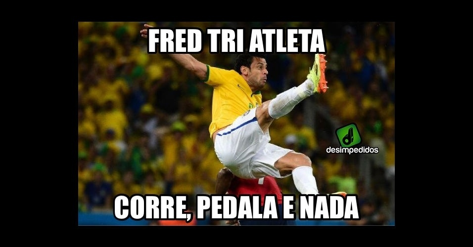 Fred não empolga no futebol. Imagina em três esportes