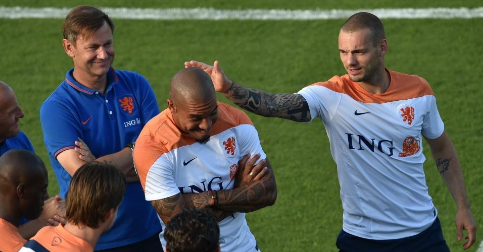 06.jul.2014 - Holandês De Jong treina e pode ser surpresa da seleção na reta final da Copa