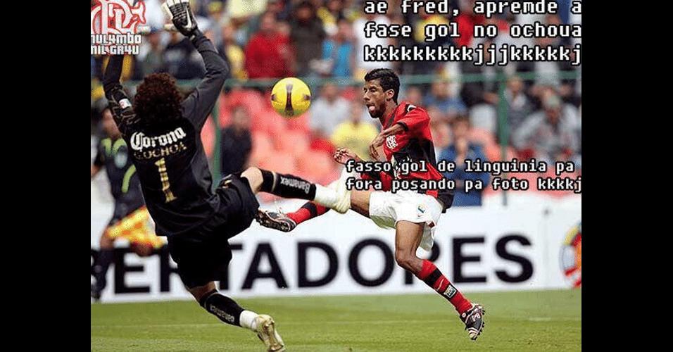 Léo Moura dá conselhos para Fred