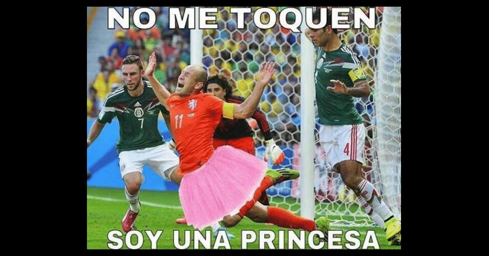 Não me toquem. Eu sou uma princesa