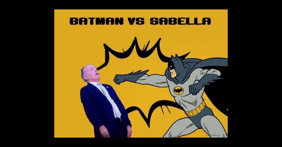 No duelo contra o Batman, Sabella levou a pior