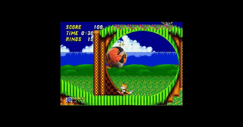 O jogo Sonic também contou com a presença de Robben