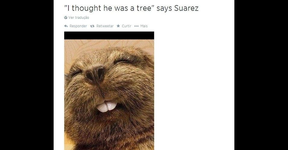 """""""Pensei que era uma árvore"""", diz Suárez"""