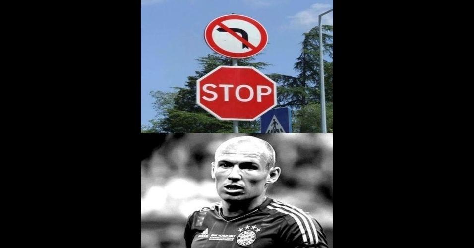 Proibido virar à esquerda. E agora, Robben?