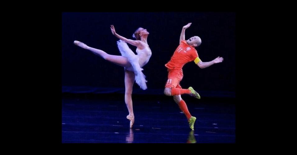 Robben arrisca passos de balé