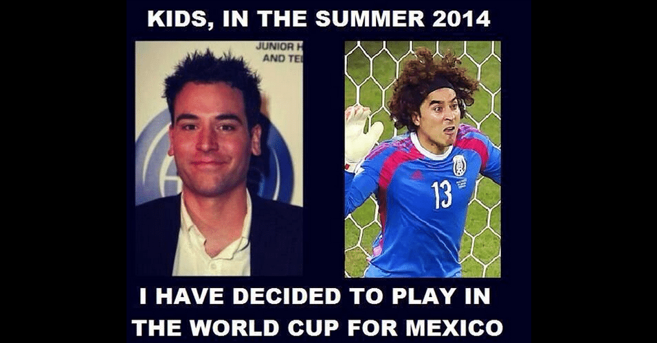 Rosto do goleiro mexicano lembra o do ator Joshua Radnor, o Ted Mosby de How I Met Your Mother
