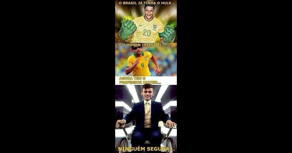 Super-heróis da seleção brasileira