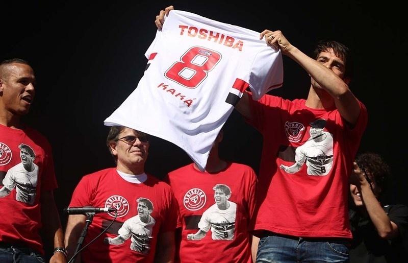 06-07-2014 - Kaká assume a número 8 no São Paulo