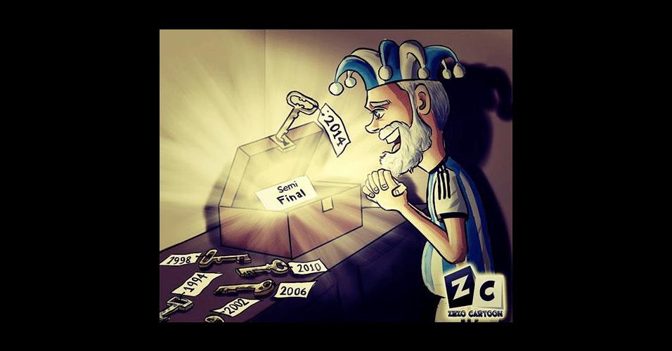 Após 24 anos, Argentina finalmente passou para as semifinais de uma Copa