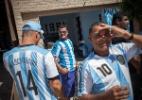 Holanda e Argentina treinam um dia antes da semifinal da Copa - AFP PHOTO / DAMIEN MEYE