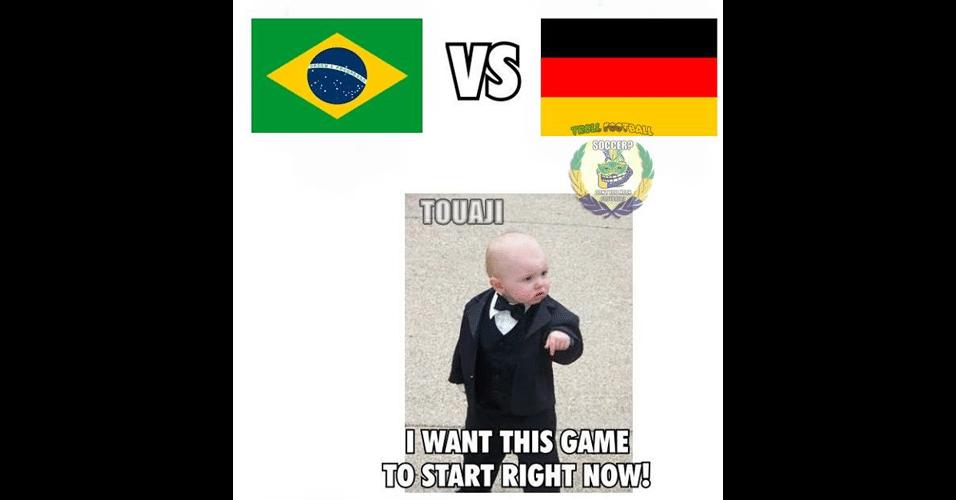 """""""Eu quero que esse jogo comece agora!"""". Torcedores estão ansiosos para partida entre Brasil e Alemanha"""