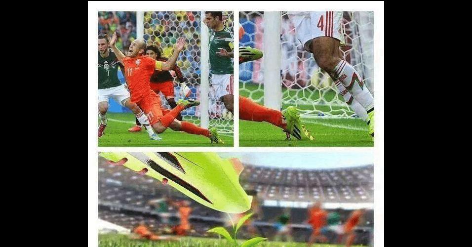 Internautas tentam explicar queda de Robben