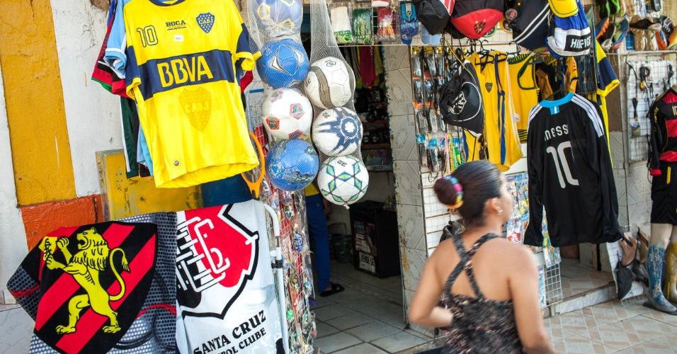 Loja do comerciante e presidente do Boca Junior, time local da cidade, José Paulo Araújo