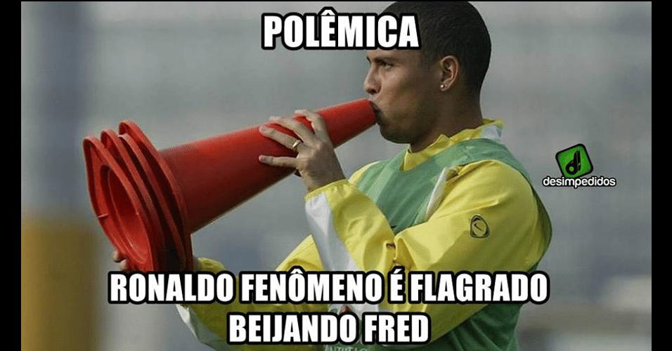Ronaldo se envolve em polêmica com Fred