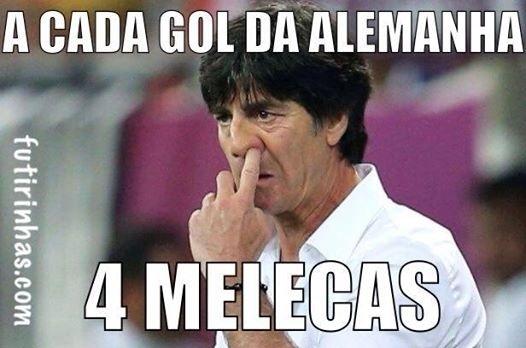 A cada um gol da Alemanha, quatro melecas do Joachim Löw
