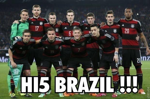Alemanha manda um Hi-5 para o Brasil!