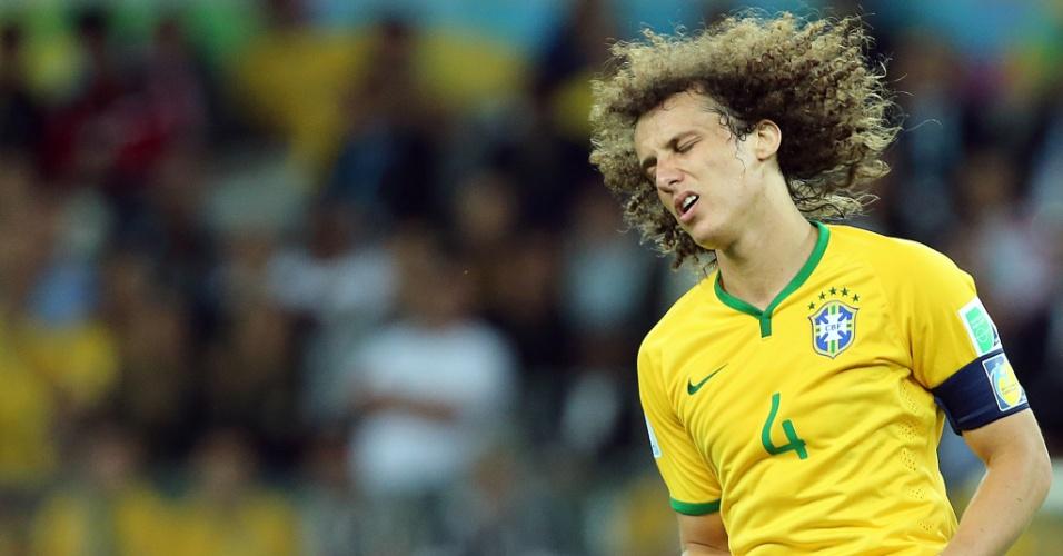 08. jul. 2014 - David Luiz, capitão do Brasil contra a Alemanha, lamenta oportunidade desperdiçada na partida no Mineirão. Os alemães venceram por 7 a 1 e estão na final da Copa