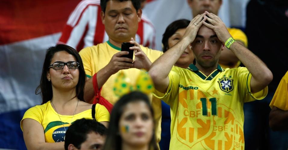 Decepção toma conta das arquibancadas do Mineirão com goleada alemã sobre o Brasil
