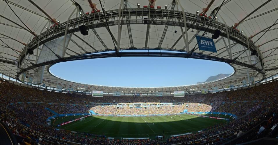 Estádio do Maracanã durante a partida entre França e Alemanha pelas quartas de final da Copa