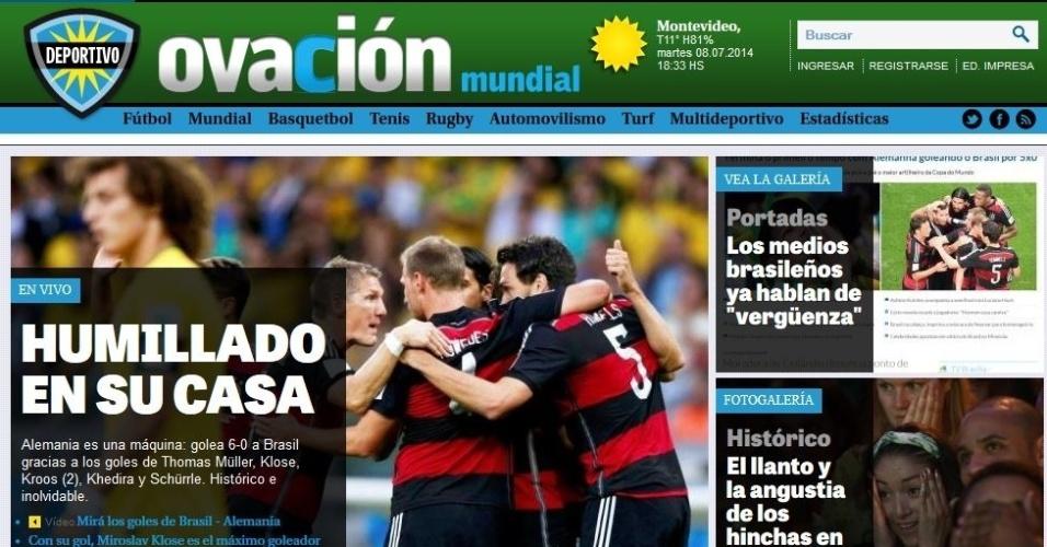 """""""Humilhado em sua casa"""" disse o jornal uruguaio Ovación"""