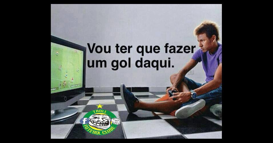 Internautas comentaram a falta que Neymar fez na partida de hoje