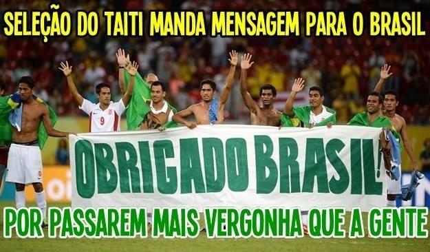 Internautas usam agradecimento do Tahiti na Copa das Confederações para zoar o Brasil