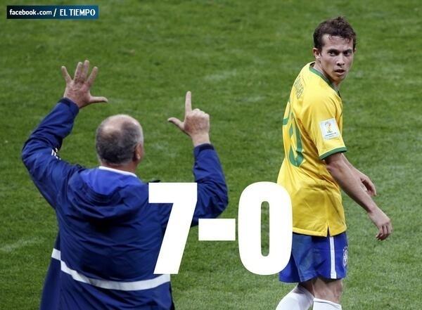 Em seu Facebook, jornal colombiano El Tiempo também brincou com a goleada da Alemanha, ainda antes de o Brasil marcar seu gol de honra