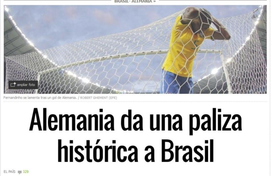 Jornal espanhol El País diz que Alemanha deu uma 'surra histórica no Brasil'