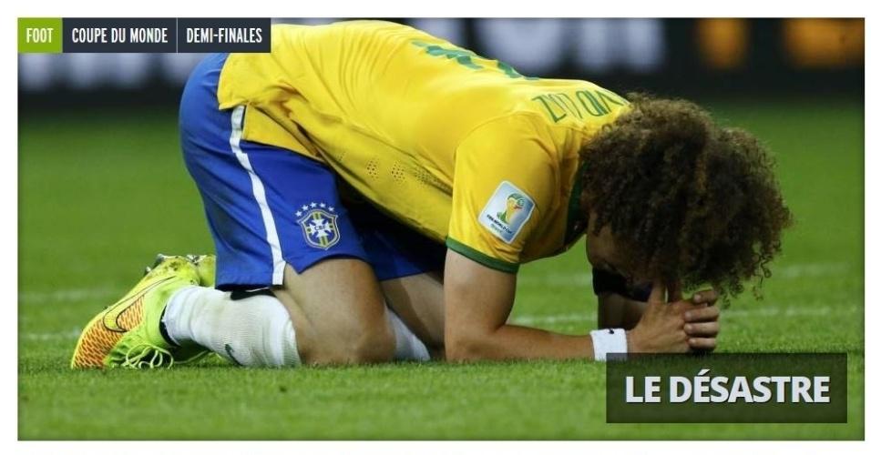 "Jornal francês L'équipe estampou ""Desastre"" na manchete do site"