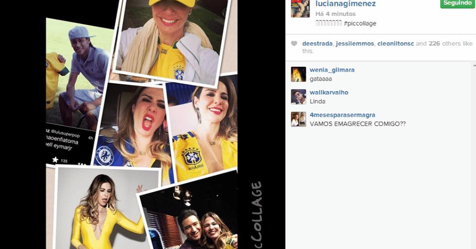 Luciana Gimenez também está na torcida pelo Brasil