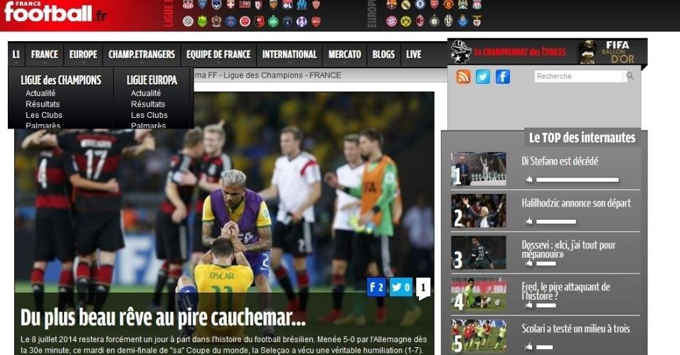 """""""O mais belo sonho transformado no pior pesadelo"""", cravou o jornal France Football"""