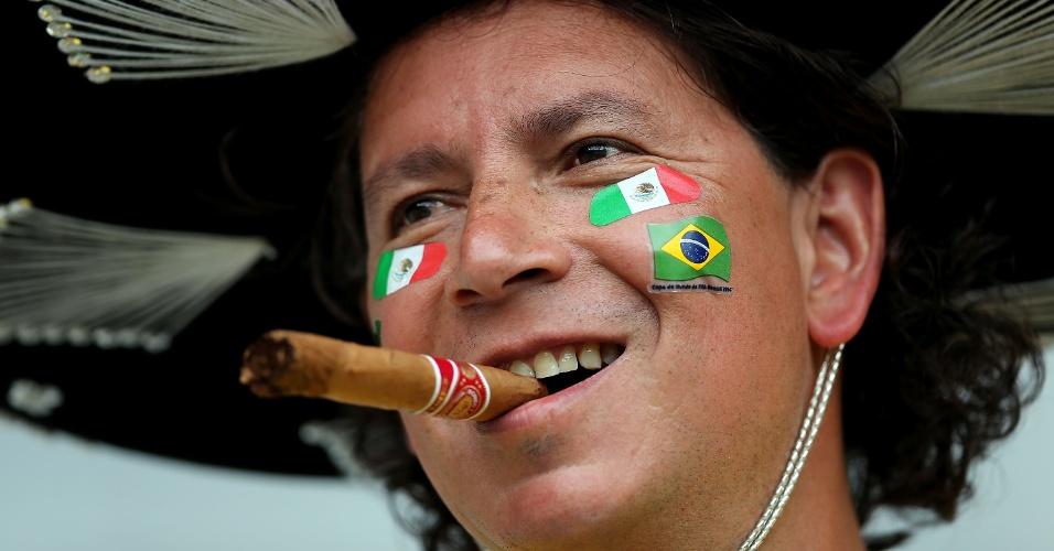 O México foi eliminado nas oitavas, mas torcedor vai ao Mineirão acompanhar o jogo entre Brasil e Alemanha