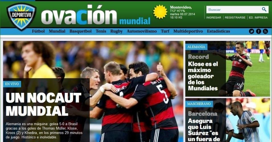 Ovación, do Uruguai, fala em 'nocaute mundial' antes mesmo do fim do jogo