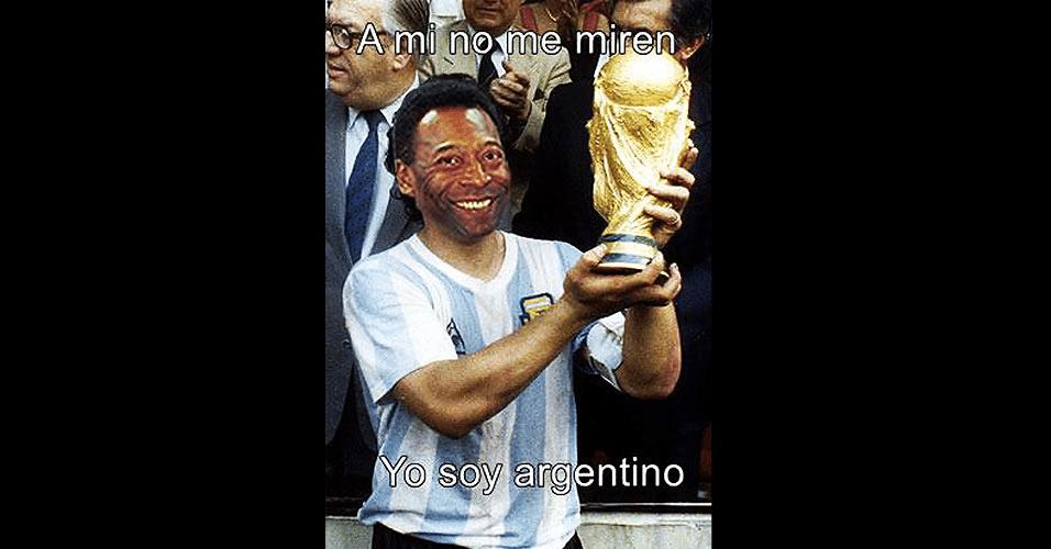 Pelé virou argentino após derrota vergonhosa