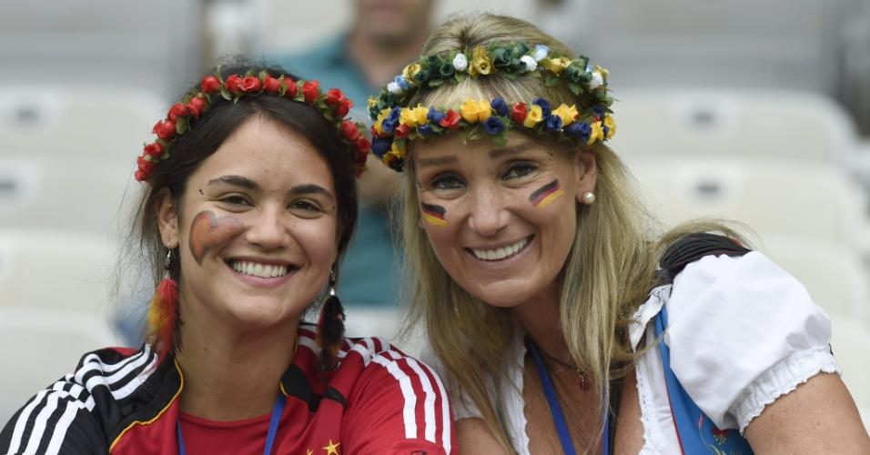 Torcedoras alemãs vão ao Mineirão acompanhar a partida contra o Brasil, pela semifinal da Copa