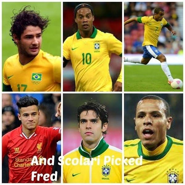 Torcedores estrangeiros não entendem como Pato, Ronaldinho Gaúcho, Lucas, Philipe Coutinho, Kaká e Luís Fabiano não estavam na seleção e Fred estava