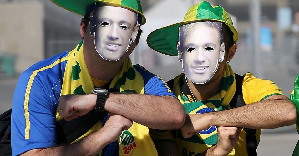 """Torcedores fazem o """"Tóis"""" antes da partida entre Brasil x Alemanha, no Mineirão"""