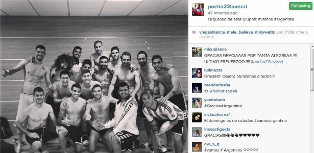 Argentinos comemoram classificação para a final