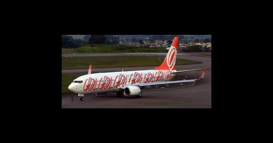 Nova identidade visual do avião da seleção brasileira