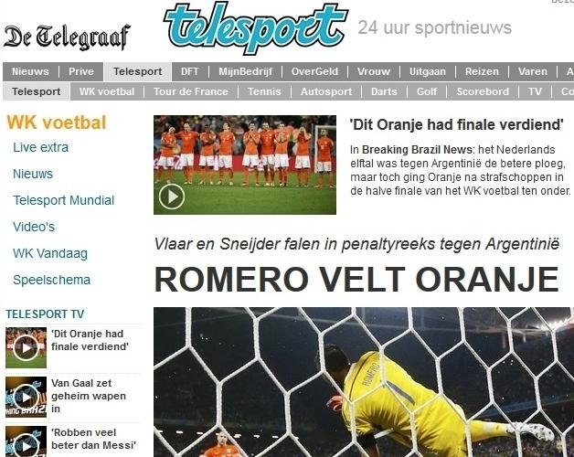 O De Telegraaf destacou como 'Romero parou a Laranja' na semifinal