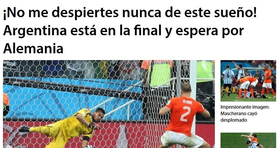O Diario Uno foi o mais passional entre os argentinos: 'não me acorde desse sonho!'