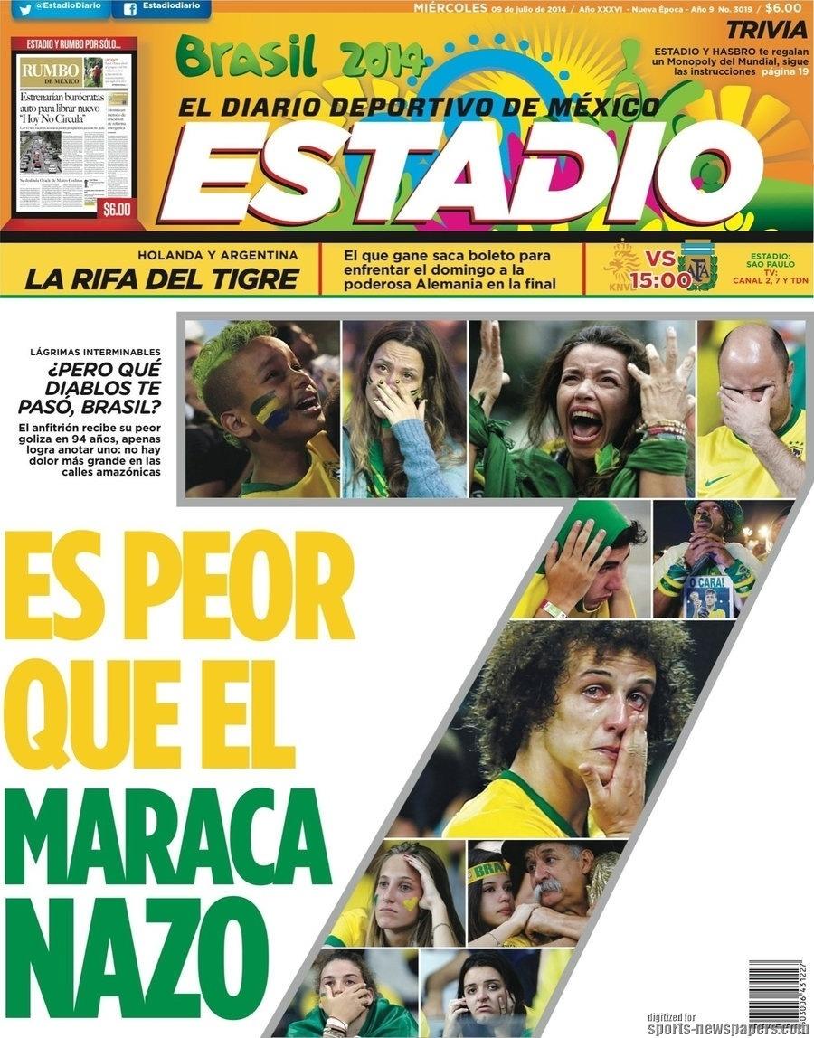 """""""Pior que o Maracanazo"""", disse o mexicano Estadio"""