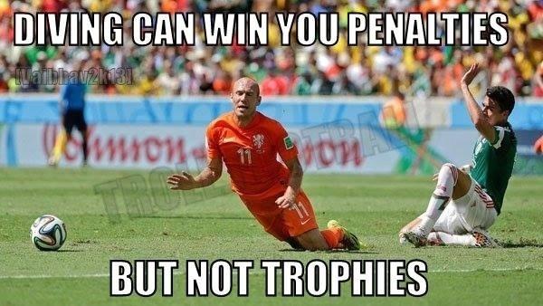 Robben, cavar faltas pode fazer você ganhar pênaltis, mas não troféus