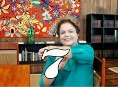 Seria este gesto de Dilma uma premonição do mal?