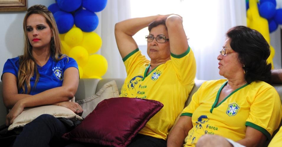 Tias de Fred sofrem com a derrota da seleção brasileira para a Alemanha na semifinal da Copa do Mundo