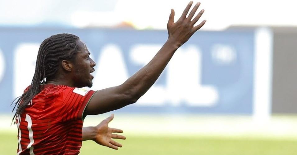 Eder, da seleção de Portugal, em jogo contra Gana