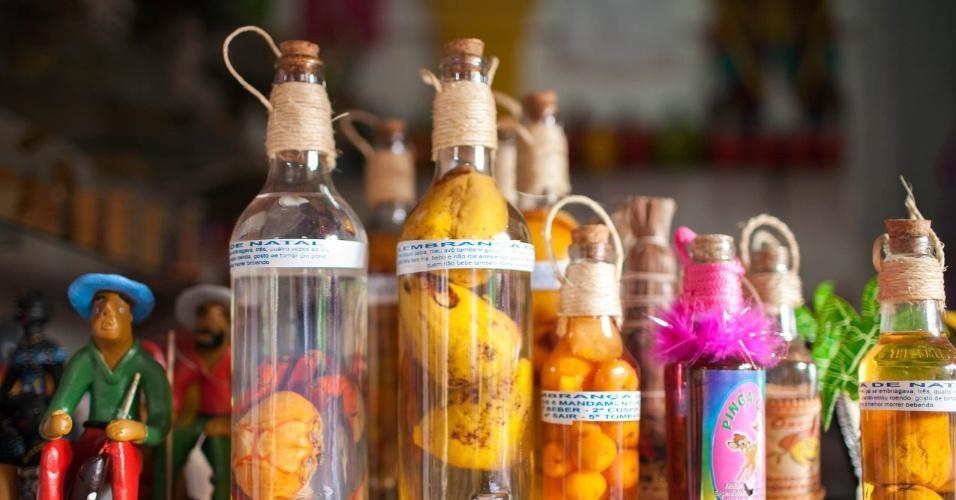 Produtos feito com caju, a venda nas barracas ao lado do maior cajueiro do mundo.